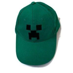Minecraft Hat Cap Creeper Flexfit Baseball Green Y